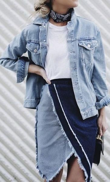 Тотал деним — тренд 2020: идеи модных джинсовых образов